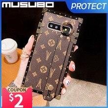 Musubo lüks kılıf Samsung Galaxy A71 A50 A70 A51 A60 A40 Fundas deri kapak A50S A40S A30 M30 M21 10 Hoesje Coque moda