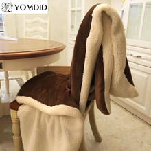 YOMDID Winter Wool Blanket Ferret Cashmere Blanket Warm Blankets Fleece Super Warm Soft Throw On Sofa Bed Cover Square Cobija(China)