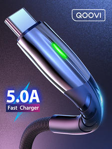 5A 2m USB Type C Cable Fast Charging Mobile Phone USB-C Charger Type-C Data Cord For
