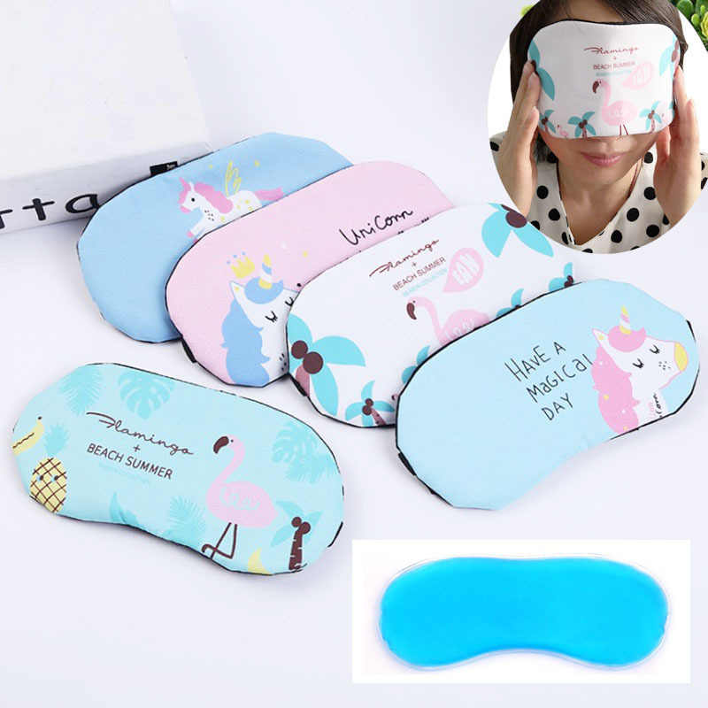1PC Flamingo Bonito Dormir Olho Máscara de Olho Sono Viagens Aid Blindfold Eyeshade Viagem Acessórios Drop Shipping
