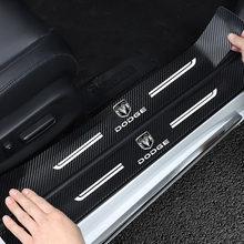 4 pçs para dodge challenger avenger sxt calibre nitro ram 1500 carro anti colisão borda da porta lateral de borracha pára-choques proteção adesivo
