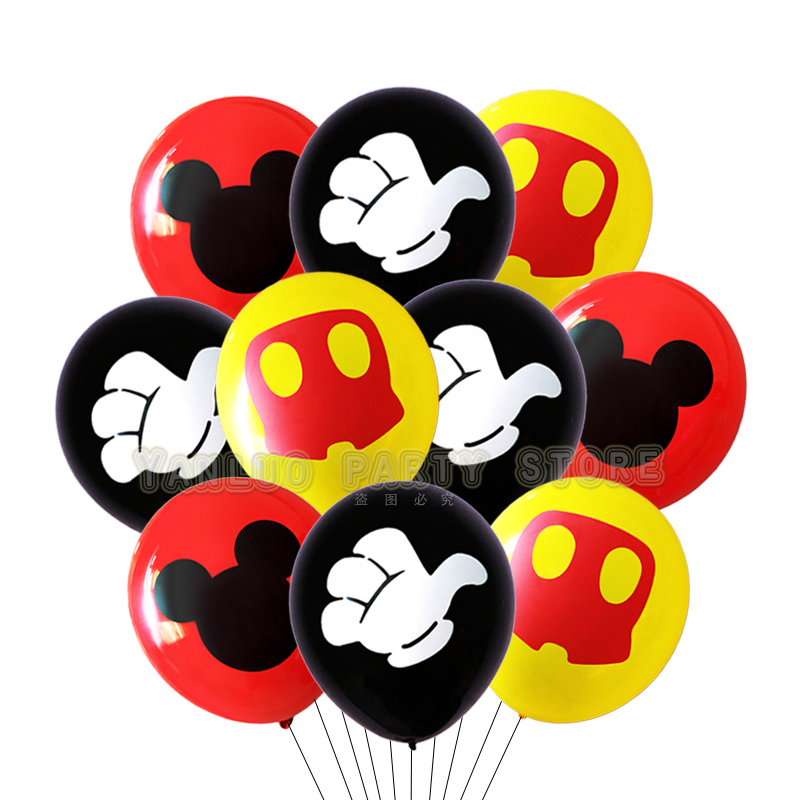 10pcs Mickey Mouse Party Latex Balloons For Adult Birthday Party Decorations 1