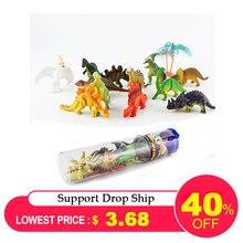 12 шт Мини светящиеся игрушки динозавра «Мир Юрского периода» со светящимся в натуральную величину модель динозавра игрушки для детей светится в темноте динозавры лучший подарок для мальчиков