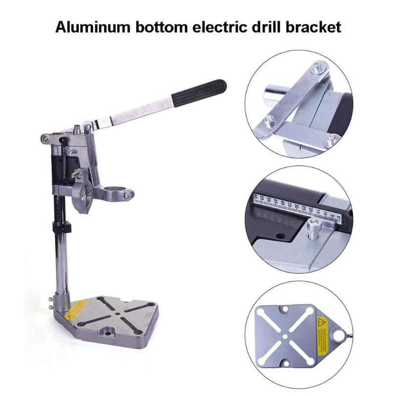 Multi functional Electric Drill Excellent Aluminum Alloy Stand Holder Bracket for Mini Drill Die Grinder Install Two Electric