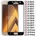 Защитное стекло 9D для Samsung Galaxy A3 A5 A7 J3 J5 J7 2016 2017 J2 J4 J7 Core J5 Prime S7, защита экрана из закаленного стекла