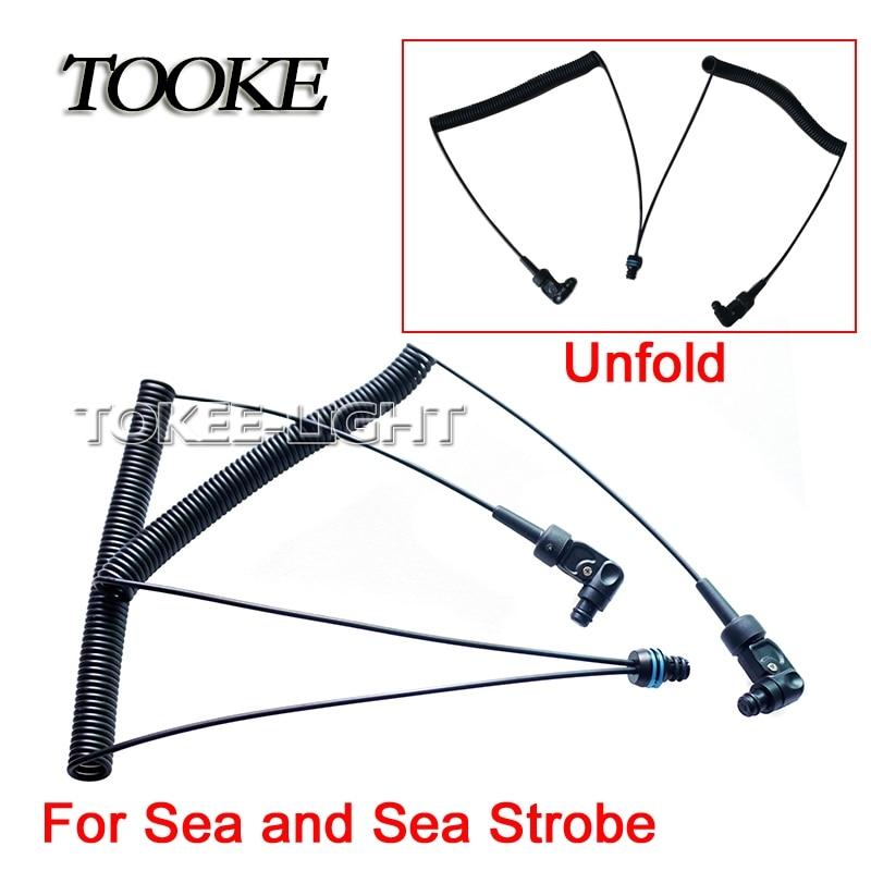TOOKE L型光纤线 1拖2 SEA&SEA TF110B 528元