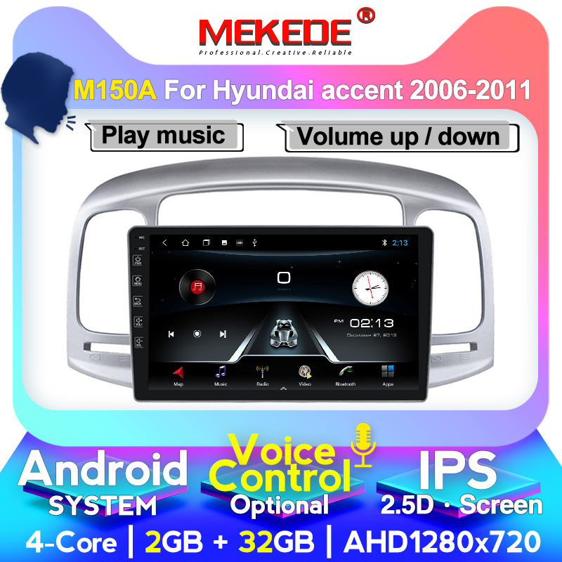 Car Radio for Hyundai Accent 2006 2007 2008-2011 Multimedia System GPS player Autoradio head unit SWC TV FM WiFi 1 din Android image