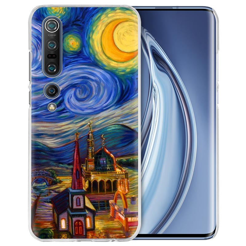 Van Gogh Oil Painting Case For Xiaomi Mi Note 10 Pro 9T 9 CC9 A3 A2 8 Lite 6X 10Youth 5G Poco X2 F1 F2pro Hard Coque Fall