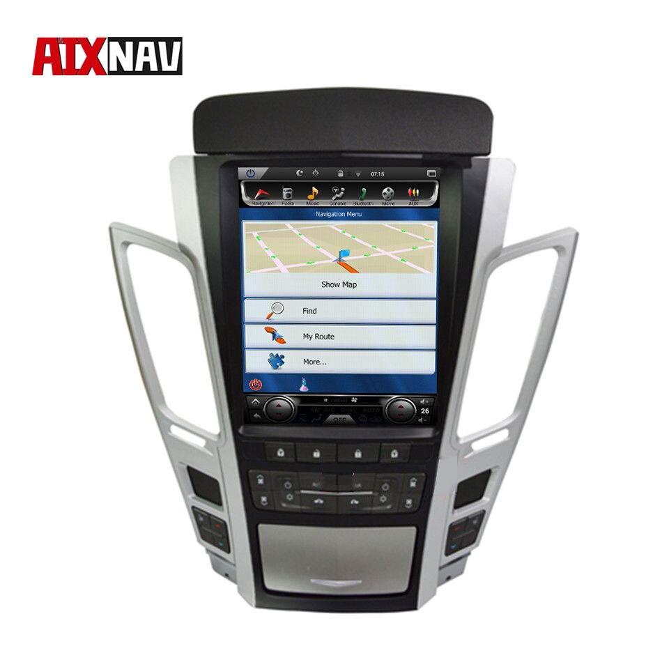 Вертикальный экран Автомобильный мультимедийный плеер головное устройство Туристический навигатор для Cadillac CTS DVD 2 Din радио аудио автомобил...