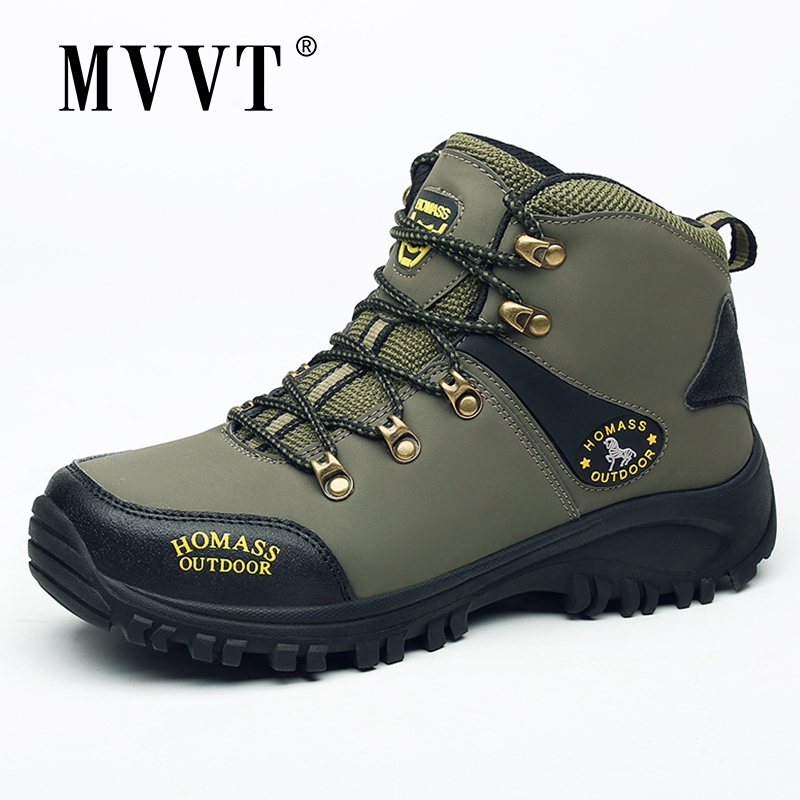 2020 Spring Outdoor Men Boots Waterproof  Pu Leather Boots Men Sneakers Anti-skid Men Ankle Boots
