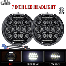 цена на CO LIGHT Car LED 7 Inch Round Headlight 75W 35W DRL Hi/Lo for Jeep Wrangler Hummer Lada Niva 4x4 Car Led Driving Light 12V 24V