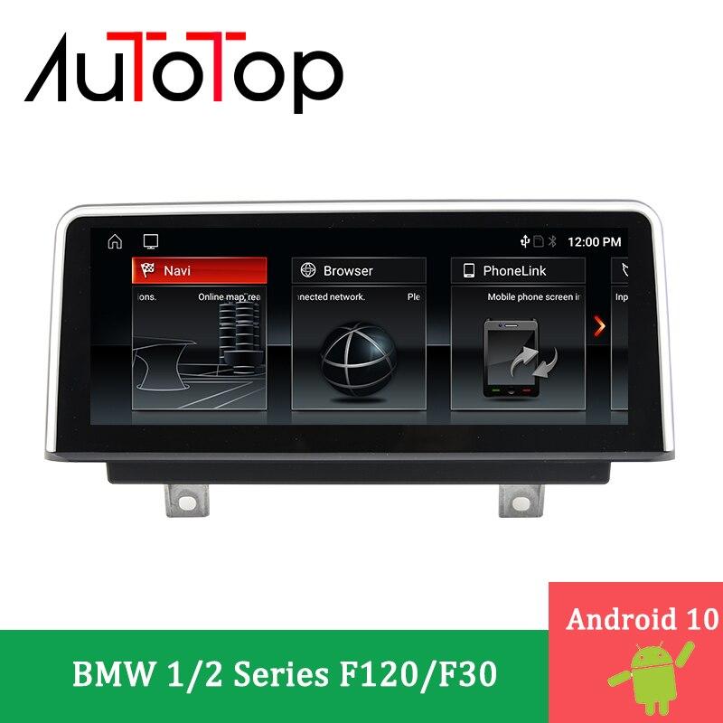 """Autotop 10.25 """"android 10 reprodutor dos multimédios do carro dvd para bmw série 1 f20 2011-2014 série 2 f22 2013-2017 nbt autoradio gps navi"""