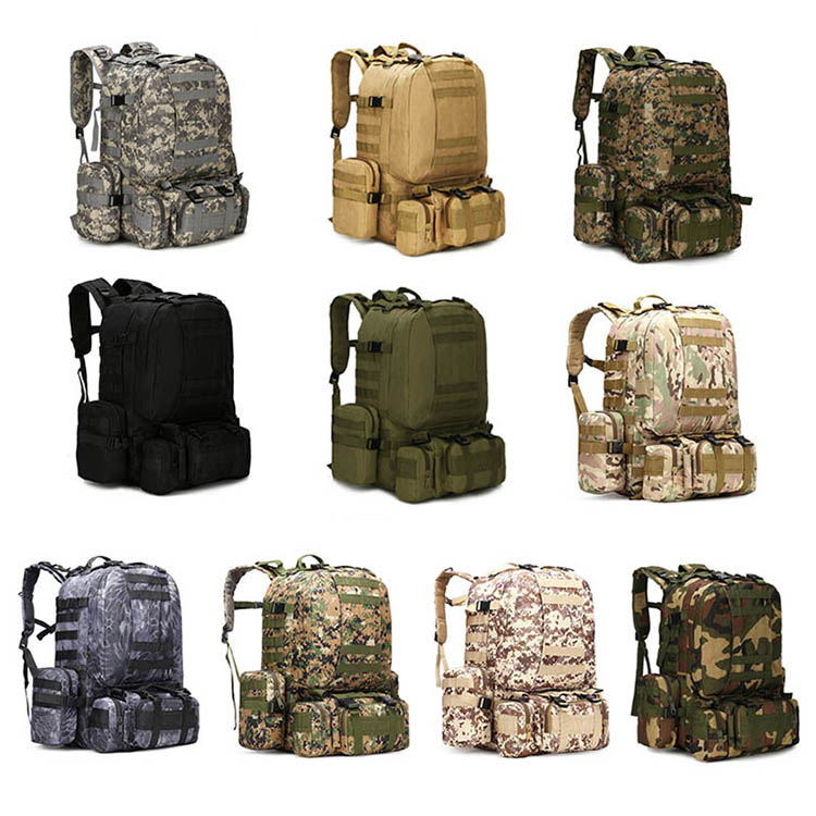H2fcb0dc9dcf943e98d8aa2f8f6730e5bA - 50L Tactical Backpack,4 in 1 Military Backpack,Army Molle Outdoor Sport Bag,Men Camping Hiking Travel Climbing Backpack Tactical