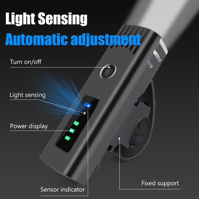 250 lúmen lanterna para bicicleta anti-reflexo inteligente luz usb recarregável mtb frente lâmpada ciclismo farol da bicicleta acessórios 2