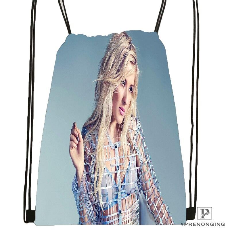 Custom Ellie Goulding Guns And Horses Drawstring Backpack Bag Cute Daypack Kids Satchel (Black Back) 31x40cm#180531-04-60