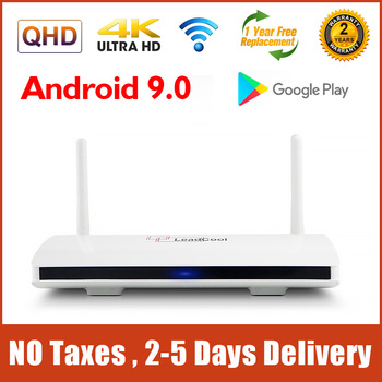 4K Leadcool Smart TV Box Android 9.0 S905W Quad Core 2G 16G Support 2.4G Wifi 1G 8G Leadcool Android Set top Box