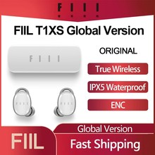 FIIL T1XS TWS True Wireless Earphones IPX5 Sport Bluetooth In-Ear Headsets Dual Mic Noise Cancelling HIFI Earbuds Global Version