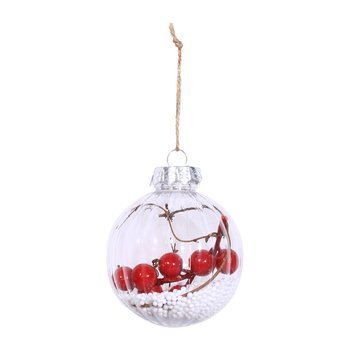 Christmas Tree Decoration Ball Christmas Round Hanging Balls Carapace Including Four Different Types of Christmas Accessories image