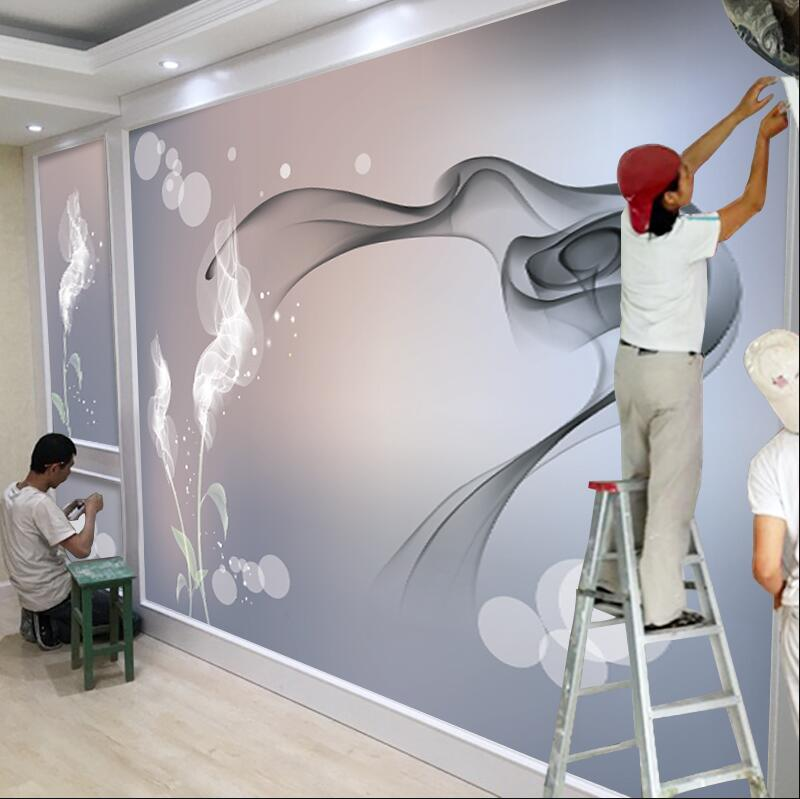 Xuesu personalizado 8d TV Fondo papel tapiz atmosférico 3d simple moderno red rojo papel tapiz mural decorativo