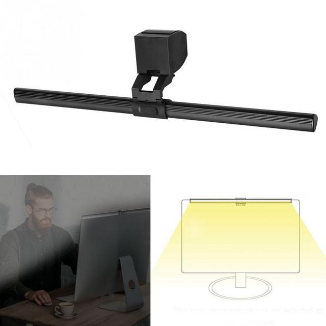 Dimmbare LED Schreibtisch Lampe Augenschutz USB Powered 5V Computer Bildschirm 5W Büro Lesen Lampe Nicht Flackern Aluminium licht Bar
