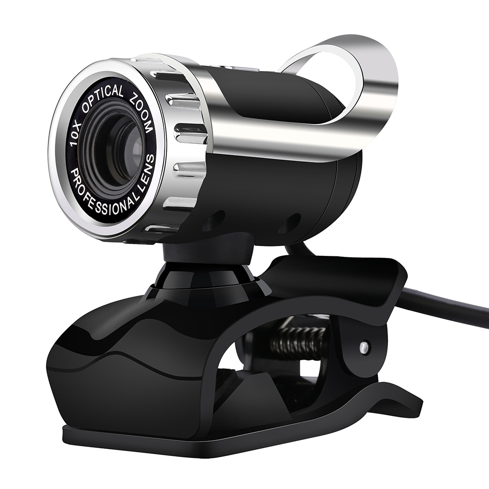 SeenDa 360 Degrees Rotatable USB Webcam with Microphone and Adjustable Clip for Desktop/Laptop/TV Box