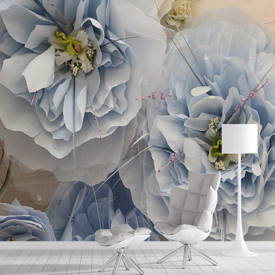 Fabric Rose Flower 3d Wallpaper Mural Wallpapers For Living Room Wall Paper Papers Home Decor Self Adhesive Walls Murals Rolls