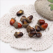 10PCS Muttern Künstliche Lebensechte Simulation Kleine Acorn Dekoration Decor Fotografie Requisiten Weihnachten dekoration(China)