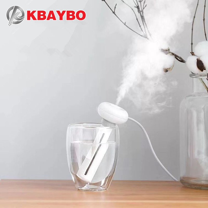 KBAYBO Air Humidifiers White Adjustable Height  Donut USB Humidifier Portable Ultrasonic Mist Maker Aroma Diffuser For Home
