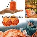 アウトドアライフ安全緊急寝袋熱保温防水マイラー応急緊急ブランケットキャンプサバイバルギア