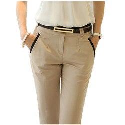 2020 ol trabalho de escritório wear terno calças das mulheres cintura alta magro formal lápis calças femininas calças bottoms pantalon mujer