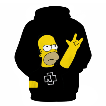 Men Women Hoodie Letter 3D Fashion Print Simpson Sweatshirt Long Sleeve Fat Body Hoodies Cartoon Simpsons Mens high quality Coat 2