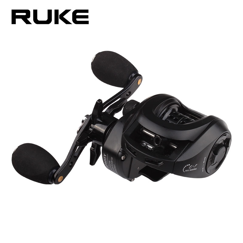 RUKE New Micro Spool Casting Reel  Open Side Cover  210 g 6+1 Bearings Discharge 8 kg Speed Ratio 8.0:1 Free Shipping|Fishing Reels|   - title=