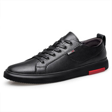 Flats Casual-Shoes Oxfords Black Genuine-Leather High-Quality Brand New Spring Leisure