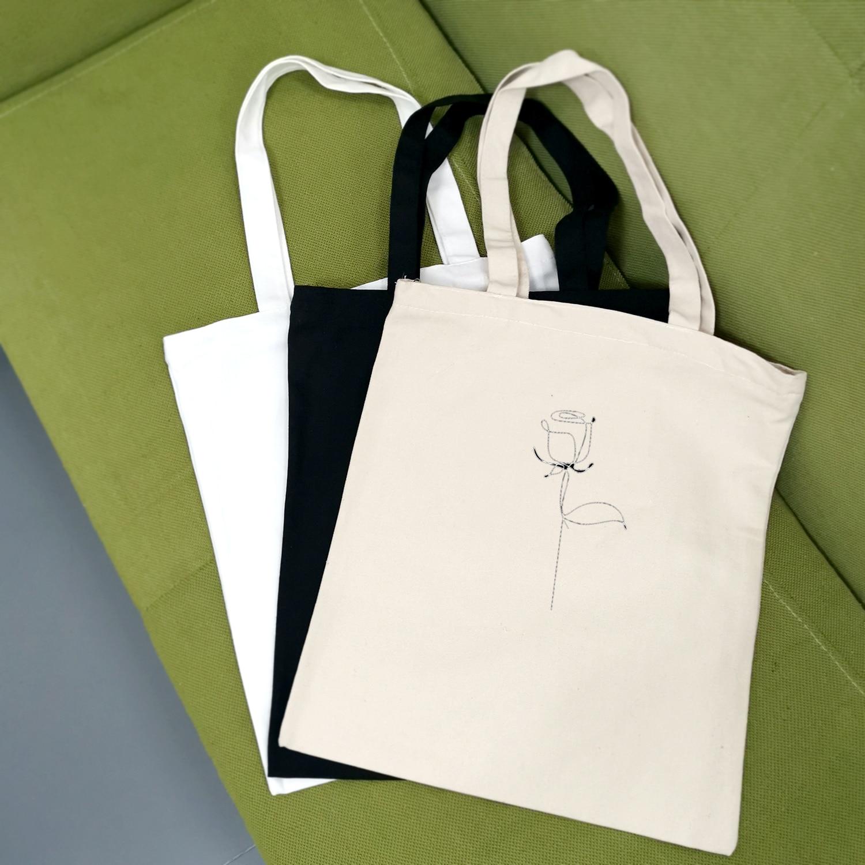 Cloth Handbags Ladies Canvas Tote Bag Travel Women Eco Reusable Shoulder Shopper Bags School Style Fashion Casual Hand Painted