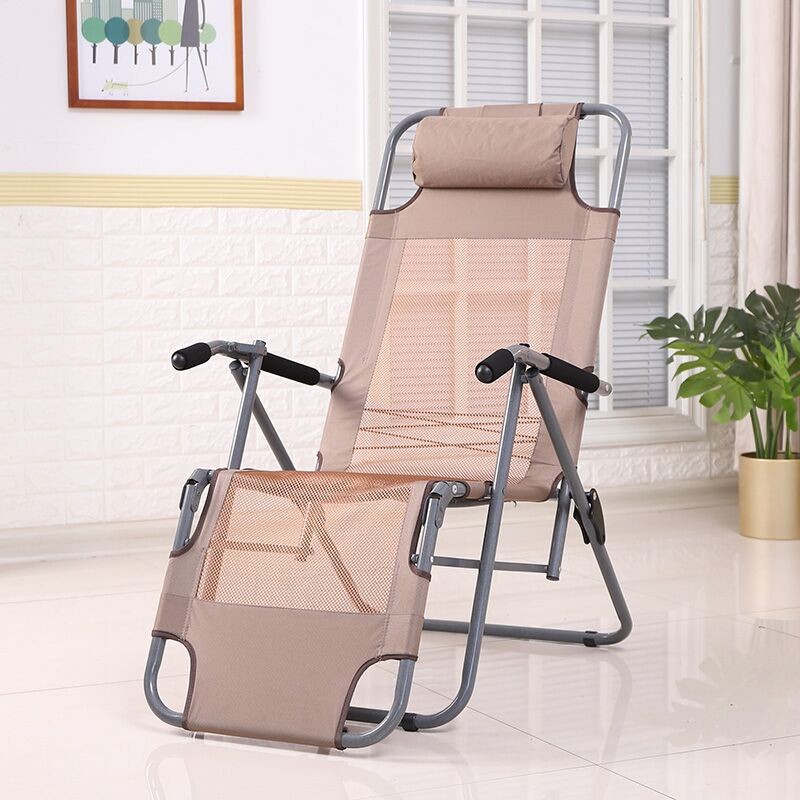Simple Recliner Folding Sheets People Lunch Break Siesta Chair Office Couch Chair Chair Balcony Home Leisure Elderly Chair