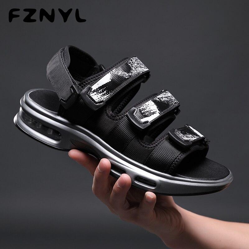 FZNYL Men Sandals Summer Breathable Outdoor Beach Casual Shoes Air-cushion 2019 Fashion Man Sport Sandal Big Size 38-44 New