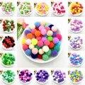 Мягкие помпоны для поделок, 8 мм, 10 мм, 15 мм, 20 мм, 25 мм, 30 мм, пушистые плюшевые шарики для домашнего декора, швейные принадлежности