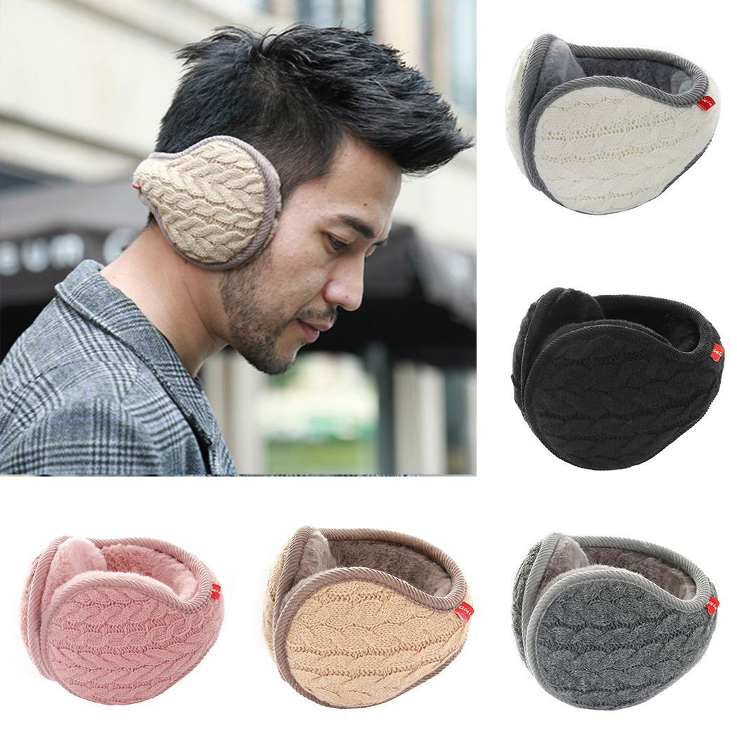 Men Women Folding Earmuff Autumn Winter Autumn, White/Pink/Khaki/Gray/Black Warm Ear Warmer Daily