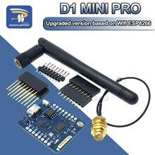 WEMOS D1 Mini Pro 16M 바이트 외부 안테나 커넥터 NodeMCU 기반 ESP8266 ESP 8266EX CP2104 WIFI 개발 보드 Micro USB