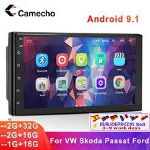 Camecho Android 9.1 Car Radio Multimedia Player 7'' HD GPS Navigation For VW Passat Golf MK5 MK6 Jetta T5 EOS POLO Touran Sharan