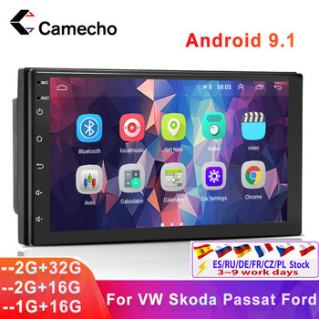 Camecho Android 9.1 Car Radio Multimedia Player 9'' HD GPS Navigation For VW Passat Golf MK5 MK6 Jetta T5 EOS POLO Touran Sharan image