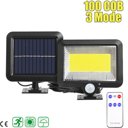 3 modi LED Solar Licht Outdoor 100COB/120COB/160COB Wasserdichte Motion Sensor Solar Wand Licht Mit Contorl Lampe für Garten Pfad