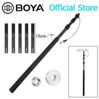 BOYA BY-PB25 Carbon Faser Mikrofon Boompoles mit Interne XLR Kabel 1m (3 3