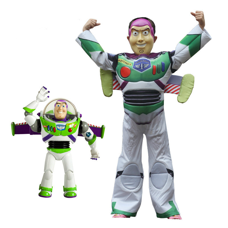 Kids Toy Story Buzz Lightyear Lovely Fancy Dress Halloween Cosplay Costume For Boys