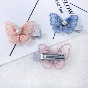 5 шт./компл. для девочек красивые красочные симуляция бабочки заколки для волос с жемчугом из сетчатой пряжи купальный костюм волос шпильки с орнаментом женские аксессуары для волос Аксессуары для волос      АлиЭкспресс