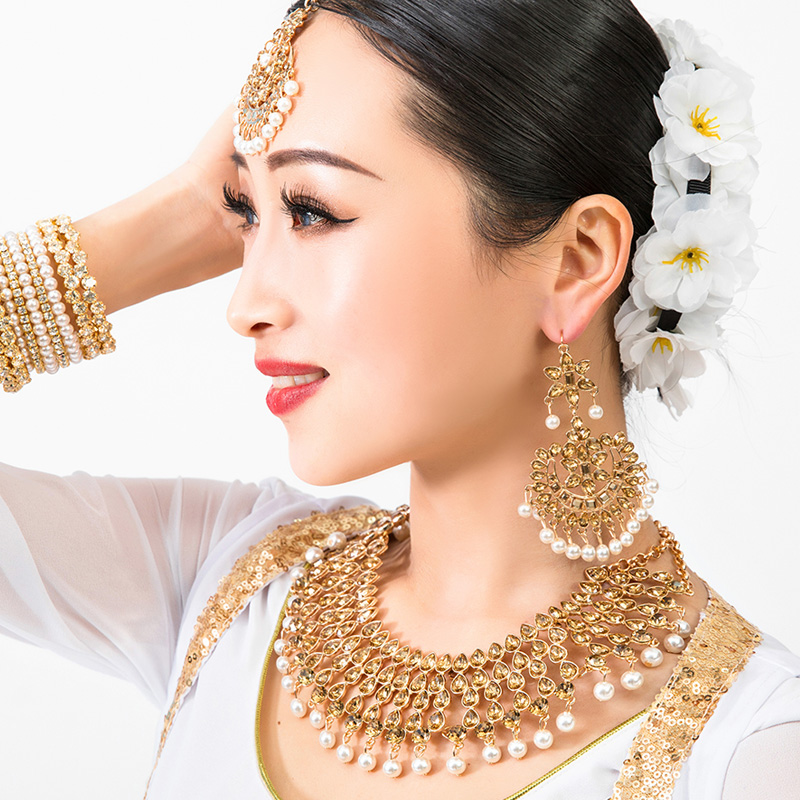 2020 New Nepal Ethnic Indian Saree Dancing Drop Earrings For Women Party Gift Brows Accessory+Necklace+Earrings