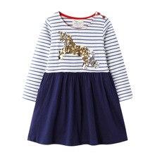 Baby Girls Unicorn Dresses Cartoon Printed Stripes Dress Kids Cotton New Party Princess