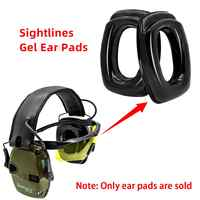 Sightlines Gel Ear Pads For Howard Leight Impact Sport Electronic Shooting Earmuff Hunting hearing protection Tactical Headset