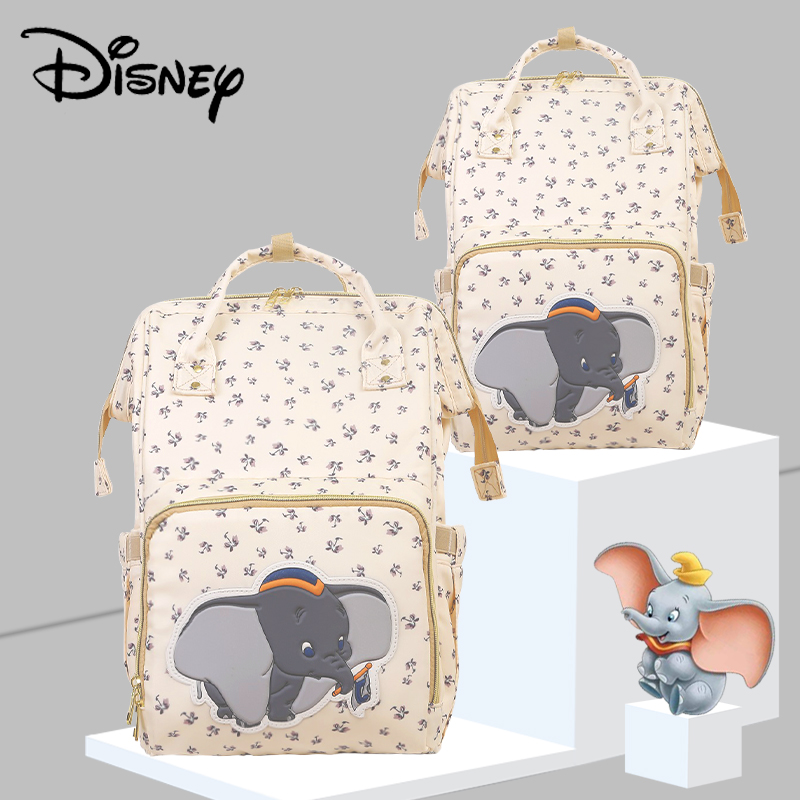 Disney Beige Cute Dumbo USB Diaper Bag Waterproof Backpack Maternity/Nappy Bag For Mom Travel Nursing Bags Luxury Simba New 2020