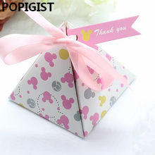 Creatieve Cartoon Minnie Stippen Baby Shower Dozen Snoep Kids Baby Meisje Verjaardagsfeestje Favor Supplies Gift Boxes Bomboniere(China)